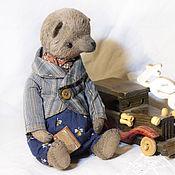 Куклы и игрушки ручной работы. Ярмарка Мастеров - ручная работа мишка-тедди Томас. Handmade.