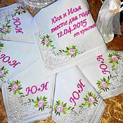 """Для дома и интерьера ручной работы. Ярмарка Мастеров - ручная работа Салфетки с вышивкой """"Нежность"""" (столовые,сувенирные, именные, подарочн. Handmade."""