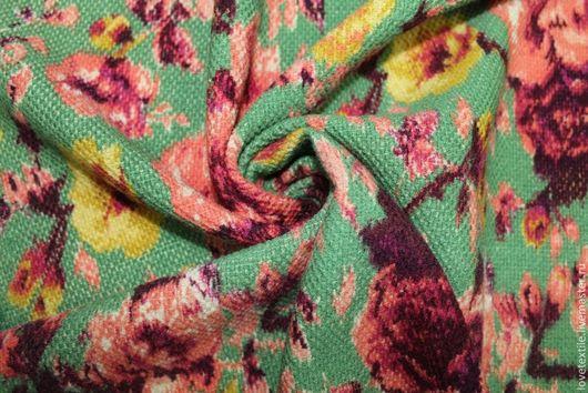 Шитье ручной работы. Ярмарка Мастеров - ручная работа. Купить Шерсть Marni. Handmade. Зеленый, Плательная ткань, юбка из шерсти