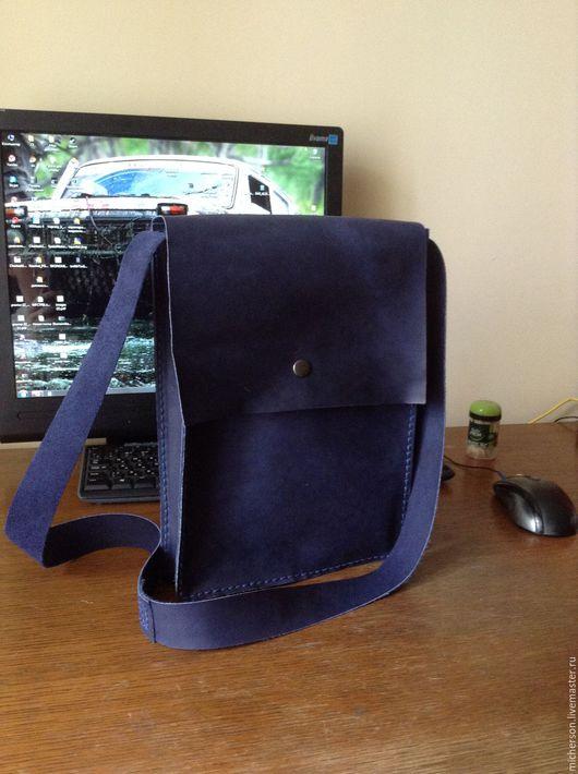 Мужские сумки ручной работы. Ярмарка Мастеров - ручная работа. Купить Сумка Pouch. Handmade. Тёмно-синий