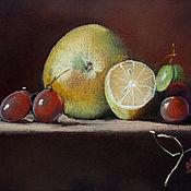 Картины и панно handmade. Livemaster - original item Painting with fruit Fruit still life painting pastel. Handmade.