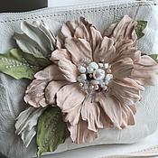 Работы для детей, handmade. Livemaster - original item Children`s handbag genuine leather c flowers art. 196. Handmade.