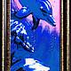Животные ручной работы. Ярмарка Мастеров - ручная работа. Купить Картина бисером Дельфины выполнена в технике двойного мозаичного пле. Handmade.