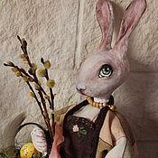 Куклы и игрушки ручной работы. Ярмарка Мастеров - ручная работа Пасхальная зая. Handmade.