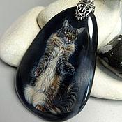 Украшения handmade. Livemaster - original item Pendant: Portrait of a pet by photo-author`s painting. Handmade.