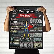 Подарки к праздникам handmade. Livemaster - original item Poster achievements for super mom (hero image). Handmade.