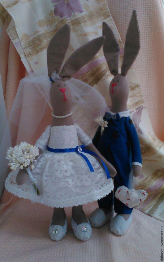 Куклы Тильды ручной работы. Ярмарка Мастеров - ручная работа. Купить Свадебные зайцы Сувенир на память. Handmade. Комбинированный, подарок