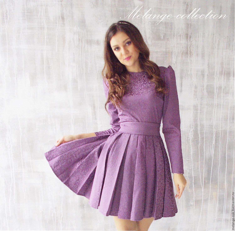 88a9ab5a39658c4 Платья ручной работы. Ярмарка Мастеров - ручная работа. Купить Женственное  платье из жаккарда.