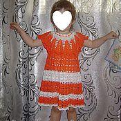 """Работы для детей, ручной работы. Ярмарка Мастеров - ручная работа Летнее платье """"Оранжевое счастье"""". Handmade."""