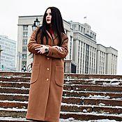 Одежда ручной работы. Ярмарка Мастеров - ручная работа Пальто демисезонное (горчица).скидка. Handmade.