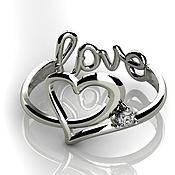 """Кольца ручной работы. Ярмарка Мастеров - ручная работа Золотое кольцо """"Love"""". Handmade."""