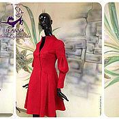 """Одежда ручной работы. Ярмарка Мастеров - ручная работа Пальто """"Роскошный Красный"""" из кашемира. Handmade."""
