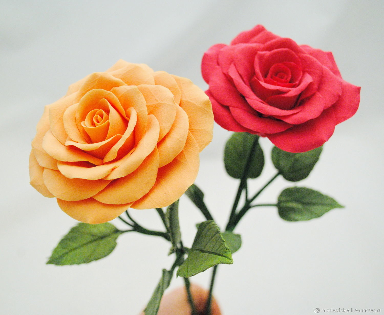 Купить розы из полимерной глины украина, цветы городе тюмень