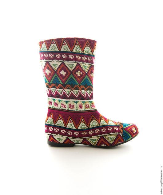 Обувь ручной работы. Ярмарка Мастеров - ручная работа. Купить Летние сапоги 1-115 (ВЧ). Handmade. Летние сапоги