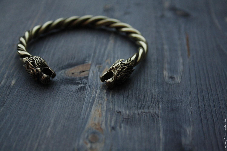 Бронзовый браслет львы, Браслет из бусин, Волгоград,  Фото №1