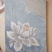 Картины и панно handmade. Livemaster - original item Interior Painting with potala Lotus. Handmade.