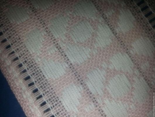 Винтажные предметы интерьера. Ярмарка Мастеров - ручная работа. Купить Салфетка розовая с машинной вышивкой и мережками.  Винтаж.. Handmade. Салфетка