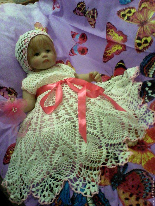 Одежда для девочек, ручной работы. Ярмарка Мастеров - ручная работа. Купить Ажурный комплект для любимой малышки.. Handmade. Белый, для детей