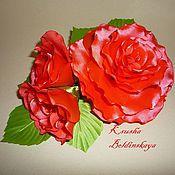 Украшения ручной работы. Ярмарка Мастеров - ручная работа роза с бутонами. Handmade.