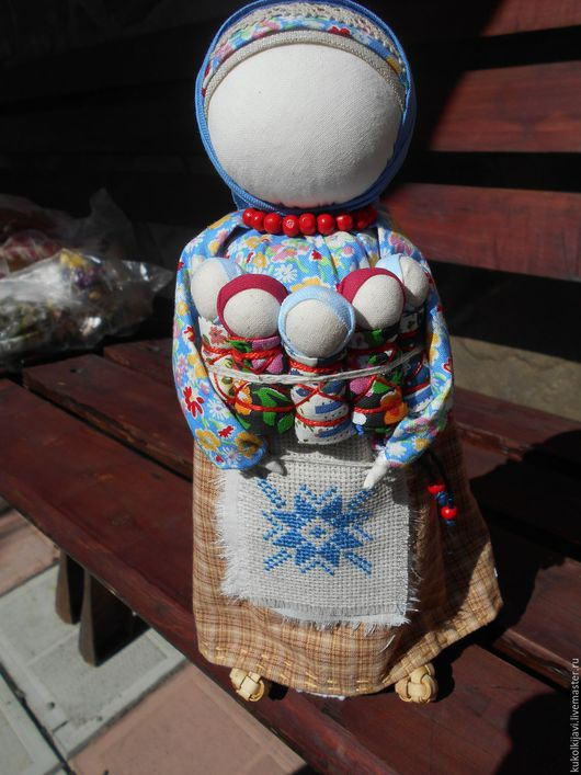 """Народные куклы ручной работы. Ярмарка Мастеров - ручная работа. Купить """"Семь Я"""" народная кукла-оберег.. Handmade. Голубой"""