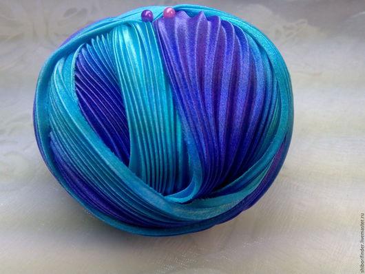 Для украшений ручной работы. Ярмарка Мастеров - ручная работа. Купить Ленты Шибори Silk Ribbons Shibori №104 Тунисская мозайка. Handmade.