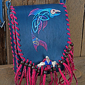 Classic Bag handmade. Livemaster - original item Leather bag