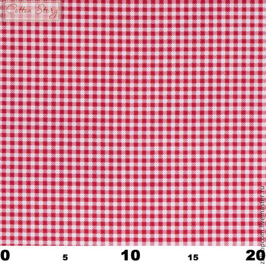 Шитье ручной работы. Ярмарка Мастеров - ручная работа. Купить Сатин Клетка 3 мм красная. Handmade. Саржа, хлопок