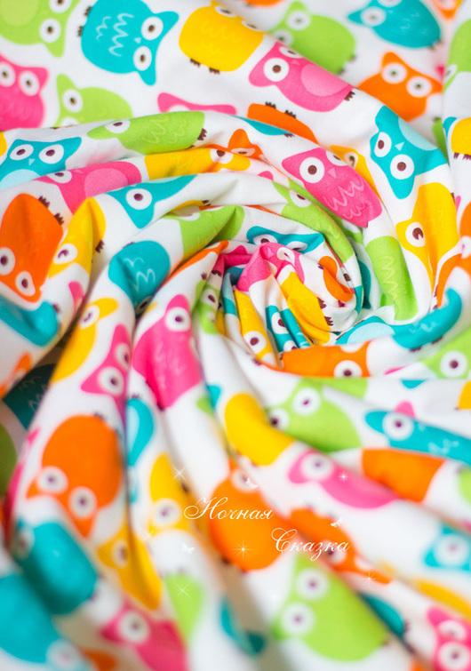 """Пледы и одеяла ручной работы. Ярмарка Мастеров - ручная работа. Купить Детское одеялко в коляску и детскую кроватку плюшевый плед """"Совушки"""". Handmade."""