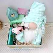 handmade. Livemaster - original item Giftbox mint with a handmade gnome, a gift for a friend on her birthday. Handmade.