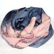 Аксессуары ручной работы. Ярмарка Мастеров - ручная работа шарф валяный Ночное море. Handmade.