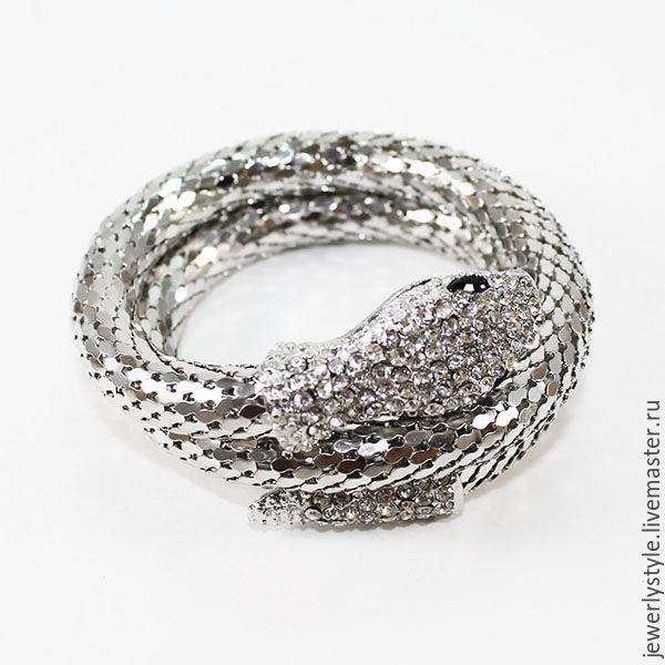 Браслет змейка металлический