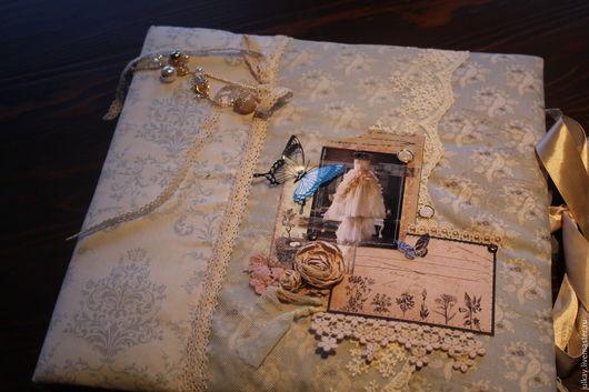 Свадебные фотоальбомы ручной работы. Ярмарка Мастеров - ручная работа. Купить Свадебный скрапальбом для фото. Handmade. Комбинированный, подарок молодым