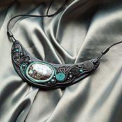Украшения handmade. Livemaster - original item Necklace: Hryvnia with turquoise. Handmade.