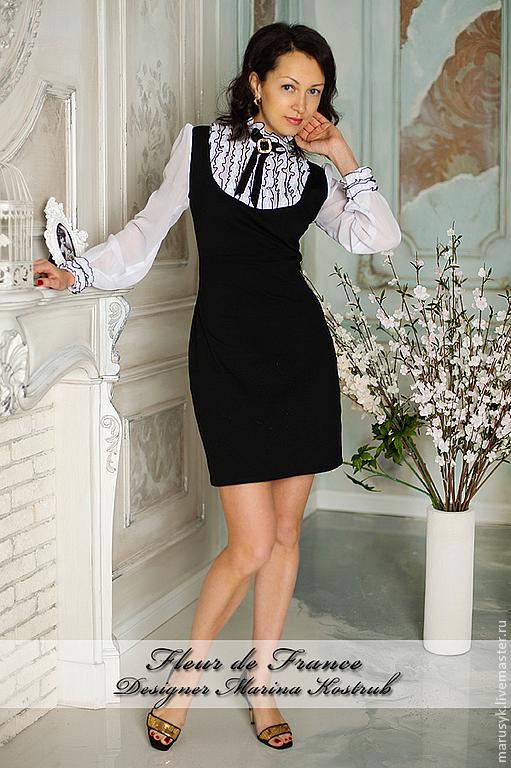 Платья ручной работы. Ярмарка Мастеров - ручная работа. Купить платье Бизнес. Handmade. Чёрно-белый, платье коктейльное