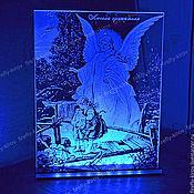 Сувениры и подарки ручной работы. Ярмарка Мастеров - ручная работа Ангел хранитель картина ночник. Handmade.