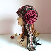 Аксессуары handmade. Livemaster - original item Knitted beanie friform Princess from the country of roses. Handmade.