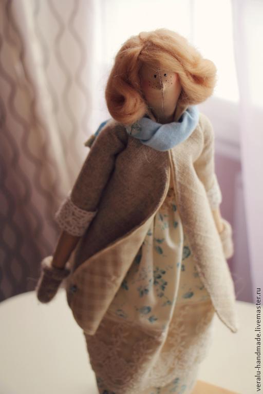 Куклы Тильды ручной работы. Ярмарка Мастеров - ручная работа. Купить Мэри встречает весну. Handmade. Голубой, нежная тильда