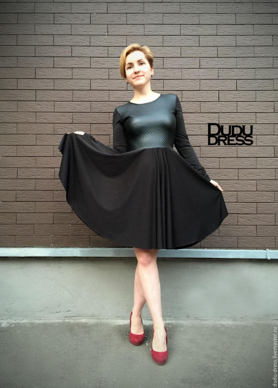 51632ce814b Платья ручной работы. Ярмарка Мастеров - ручная работа. Купить Короткое  платье со вставкой и ...