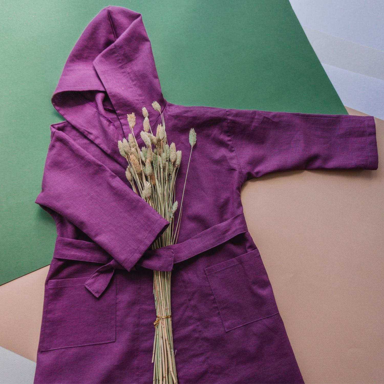 Детский халат из конопли, Пижамы и халаты, Зеленоград,  Фото №1