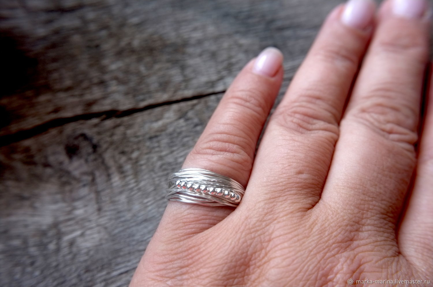 Silver braided ring FORMS – shop online on Livemaster with shipping ...