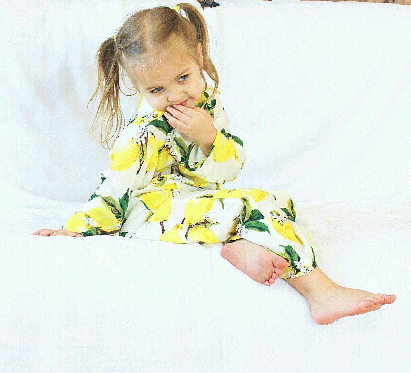 """Пижама для девочки из набора фэмили лук """"Лимончики"""", Пижама, Москва,  Фото №1"""