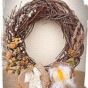 Цветы и флористика handmade. Livemaster - original item Easter wreath. Handmade.