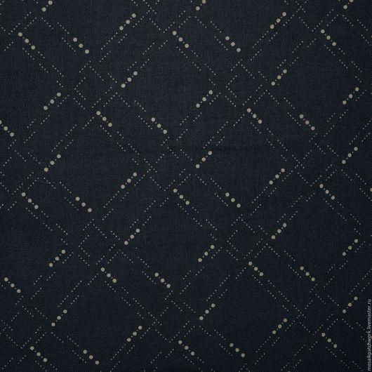 """Шитье ручной работы. Ярмарка Мастеров - ручная работа. Купить Хлопок ткань для пэчворка """"Бежевый на черном"""". Корея. Handmade. Черный"""
