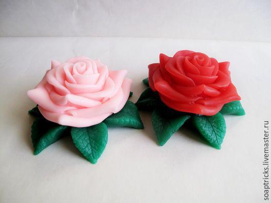 Мыло ручной работы. Ярмарка Мастеров - ручная работа. Купить Мыло Роза на листьях. Handmade. Комбинированный, мыло ручной работы
