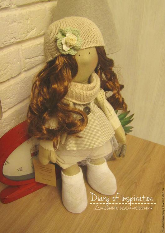 Куклы тыквоголовки ручной работы. Ярмарка Мастеров - ручная работа. Купить Кукла интерьерная. Handmade. Бежевый, кукла тыквоголовка, хлопок