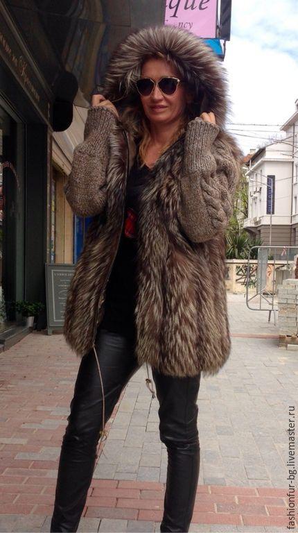 Верхняя одежда ручной работы. Ярмарка Мастеров - ручная работа. Купить Курточка - шубка Daria. Handmade. Куртка с капюшоном