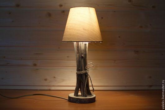 Освещение ручной работы. Ярмарка Мастеров - ручная работа. Купить Лампа настольная с абажуром. Handmade. Настольный светильник, лампа, срез