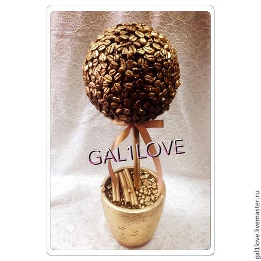 Элементы интерьера ручной работы. Ярмарка Мастеров - ручная работа. Купить Кофейное золотое дерево выполнено Галичкиной любовью. Handmade.