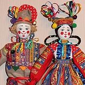 Куклы и игрушки ручной работы. Ярмарка Мастеров - ручная работа Скоморохи (пара). Handmade.