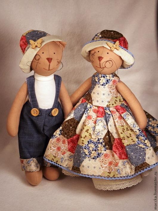 Куклы Тильды ручной работы. Ярмарка Мастеров - ручная работа. Купить Тильда Кот и кошка в стиле кантри. Handmade. Семья
